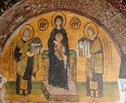 Mosaic of Byzantine Imperial Monarchs from the walls of Hagia Sophia