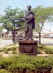 A monument to Gomidas Vartabed in honor of Detroit Armenian Immigrants -located on Jefferson Ave.